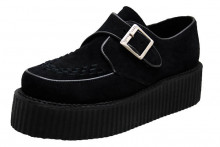 Monk creeper shoe double sole black suede