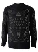 Grey Ouija Board Mens Long Sleeve T Shirt