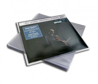 - LP protective sleeves made from PVC (Pack 25)