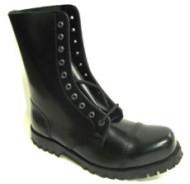 Steelground Steel 10 eye boot black leather