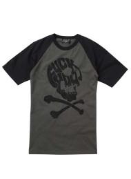 F ck You Skull Grey Short Sleeve Baseball