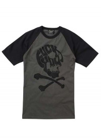 F ck You Skull Grey Short Sleeve Baseball