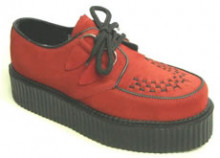 Steelground  Creeper double red suede d-ring shoe