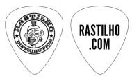 Rastilho Logo (White, Guitar Pick)