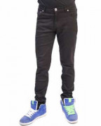 Regular Rise Black Drain Skinny Jeans