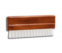 Vinyl record brush with wooden handle