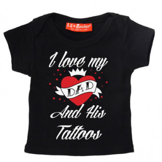 - I Love Dad And His Tattoos Baby/Kids T-Shirt