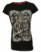 Zombie Portrait Womens Black T Shirt