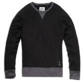 Liam Sweatshirt quilted schwarz-anthrazit