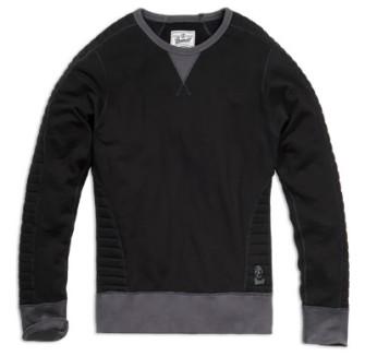 - Liam Sweatshirt quilted schwarz-anthrazit