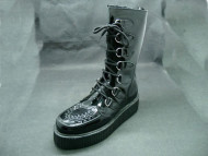 Lancia boot black patent