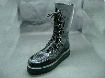 - Lancia boot black patent
