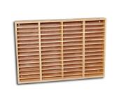 Music cassette wooden shelf natural
