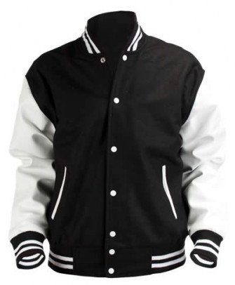 - Black&White Baseball Jacket
