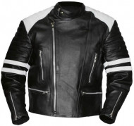 Old School White-Black Leather