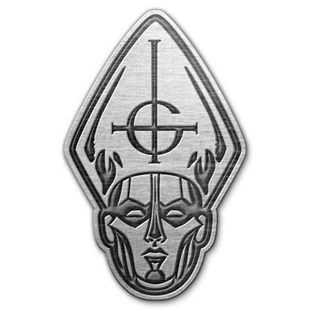 Papa Head Metal Pin