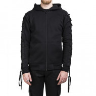 Laced Hooded Zipper