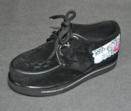 """Young """"rock"""" creeper interlaced shoe black suede"""