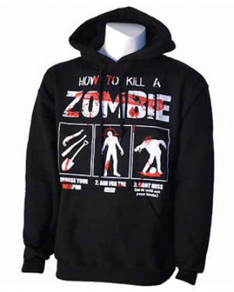 - How To Kill A Zombie Pullover Hood