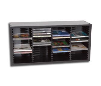 - Wooden CD shelf black
