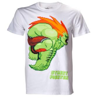 - Street Fighter - White, Blanka Shirt