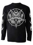 Pentagram Baphomet Mens Long Sleeve T Shirt
