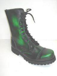 Steelground 10 eye boot floro green rub of