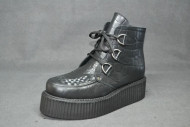 Triple D ankle boot croc grain leather