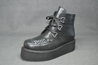 - Triple D ankle boot croc grain leather