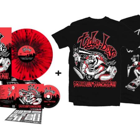 Porkabilly Psychosis - Super Bundle 3 (2 Tshirts + CD + LP)