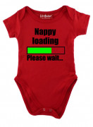 Red Nappy Loading Please Wait Baby Grow
