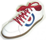 Steelground Snickers white leather