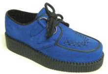 Steelground Creeper single blue suede d-ring shoe