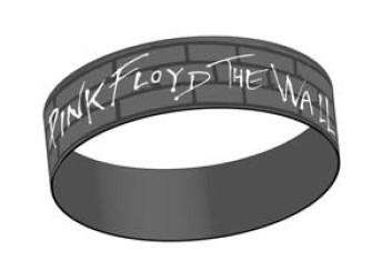 - Pink Floyd - Grey, Wall Logo Rubber Wristband