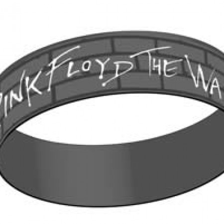 Pink Floyd - Grey, Wall Logo Rubber Wristband