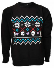Fairisle Black Sweatshirt