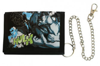 - Hulk - Black, Nylon Woven Snap Wallet