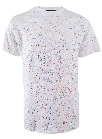 - Paint Splatter Mens T Shirt