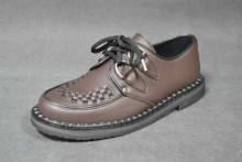 Casual creeper d-ring shoe brown vegetarian