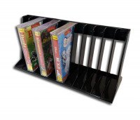 Music cassette plastic rack