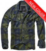 Check Shirt Olive Blue