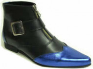 Steelground   Boot blue/metalic gold leather