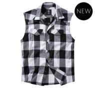 Checkshirt sleeveless (White)