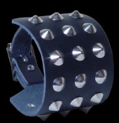 3 Row Conical Stud Wristband