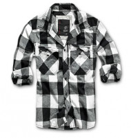 Check Shirt black-white