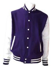 Purple and White Varsity Jacket