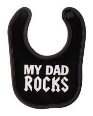 Dad Rocks Black Bib