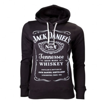 - Jack Daniels - Female Hoodie, Black, Logo