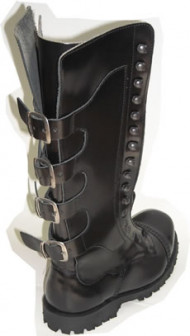 Steelground Steel boot black leather