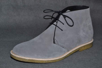 - Crispin desert ankle boot grey suede